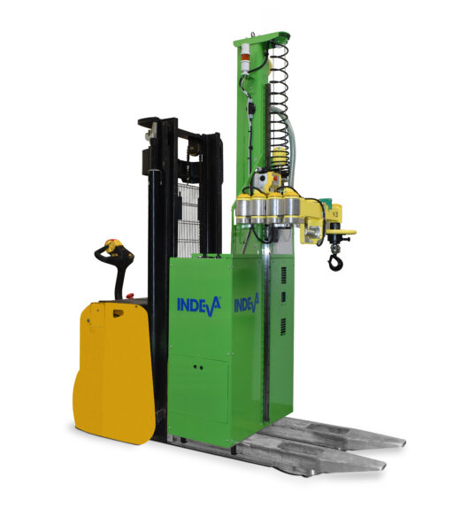 Liftronic Mobile is a manipulator unit that can be easily fixed on a liftruck and be moved where needed